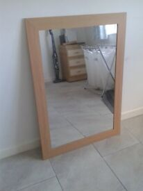 Large modern looking mirror Very good condition