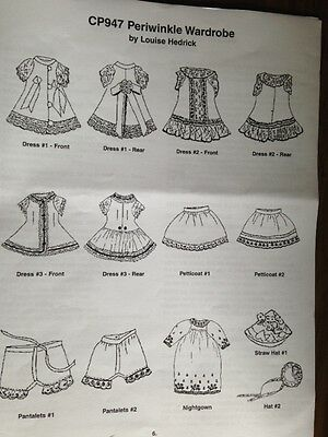 "WARDROBE PATTERN  for ALL BISQUE MIGNONETTE 5.5"" 10 pieces Louise Hedrick"