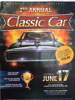 SAVE THE DATE!! 2nd Annual Classic car show and shine/Auction