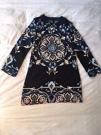 Patterned dress, Warehouse, size 12