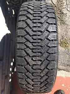 Goodyear Nordic P215/60R16 Winter Tires on Steel Rims