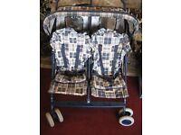 Double pushchair child & newborn £25