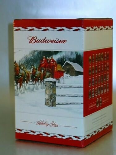 Budweiser 2010 Bud Holiday Stein Clydesdale Beer Mug Series Tradition