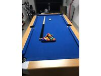 Pool Table for Sale - Hardly Used - 5ft 8 by 2 ft 8 - Folds Away