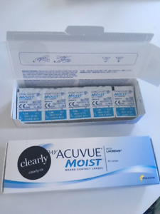 1-Day Acuvue Moist Contact Lenses (-4.00)