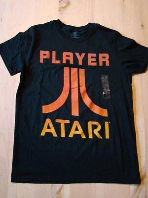 Men's ATARI Player Black T-Shirt - Sz M - NWT - Video Game Gamer