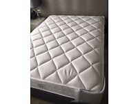 Kingsize bed from a showhome, fossil gey base with 2 drawers and mattress - unused