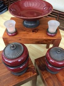 ***REDUCED*** - 11-PIECE, 5 ITEM PARTYLITE ® MOROCCAN BOWL AND CANDLE HOLDER SET