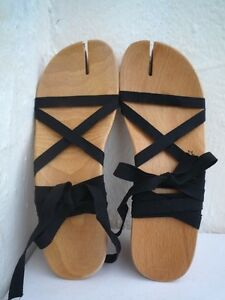 MAISON-MARTIN-MARGIELA-039-Tabi-039-wood-sandals-Size-38