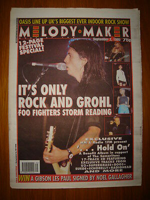 MELODY MAKER 1995 SEP 2 FOO FIGHTERS OASIS U2 SUEDE