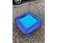 Childs' junior trampoline - indoor or outdoor in good condition