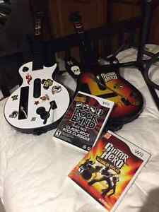 Wii Guitars and Games - $60obo - GREAT DEAL
