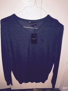 Men's EMPORIO ARMANI V neck classic sweater NEW Made In Italy!