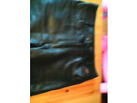 leather jeans black 32w 32ins leg approx