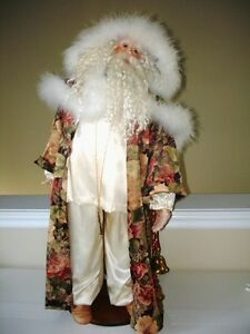 3' Tall FATHER TIME Kris Kringle Santa CHRISTMAS Porcelain DECOR Oakville / Halton Region Toronto (GTA) image 2