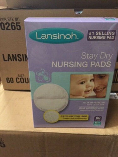 Lansinoh Nursing Pads Stay Dry 60 Each (NEW)