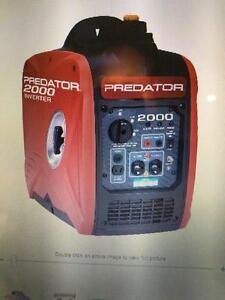 HOC - 2000 Peak/1600 Running Watts, 2.8 HP (79.7cc) Portable Inverter Generator + WARRANTY + FREE SHIPPING