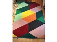 RUG Pandrup Low Pile Multicolour 133x195 Cm USED BUT GOOD CONDITION! IKEA