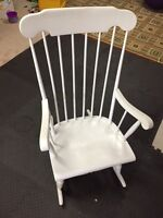 Wood rocking chair - white