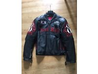 Rare Dead Mans Hand Motorcycle jacket Icon Moto DMH leather, awesome detailing