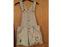 New Look BNWT Size 12 Blue Dungaree Shorts