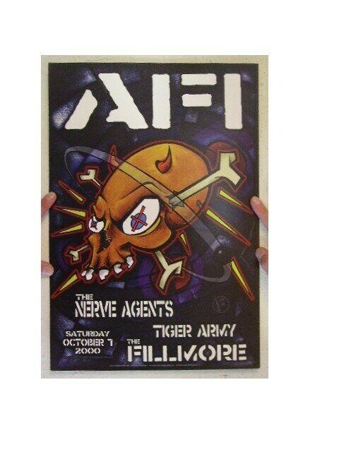 AFI Concert Poster The Fillmore October 7, 2000 A Fire Inside