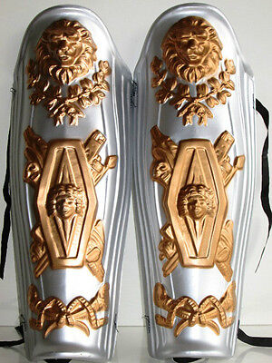 ROMAN GLADIATOR CENTURION SPARTAN COSTUME LEG PIECES SHIN GUARDS ARMOR