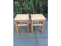 Ikea Small Tables (used as bedside tables)