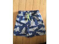 Mini Boden Boys Bathers Swim shorts, Trunks - Walrus. Age 6-7 years
