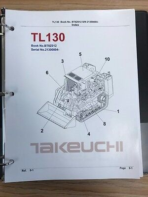 Takeuchi Tl130 Crawler Loader Parts Manual Sn 21300004 And Up