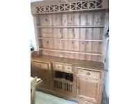 "Large Antique Pine Dresser with ""Chicken Coop"""