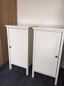 2 x Ikea HEMNES Bedside Table Cabinets. Off white.