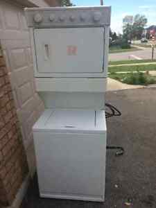 """Whirlpool thin twin 27"""" washer electric dryer stackable"""