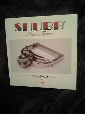 Shubb Banjo Capo - Shubb Capo F5 Finetune Fine Tune for Banjos new in box