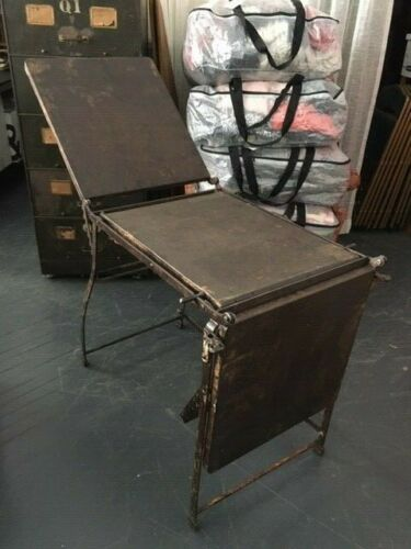 Antique Victorian GYN Medical Folding Table - cast iron
