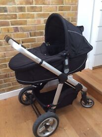 Used ICandy Apple pushchair with carrycot, footmuff and rain cover