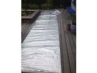 Foil-faced bubble wrap insulation.