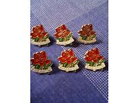 BRITISH RED CROSS RED ROSE PIN BADGES - ALL NEW