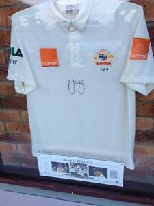 Mark Waugh Signed and Framed Test Shirt Cricket Memorabilia Gaven Gold Coast City Preview