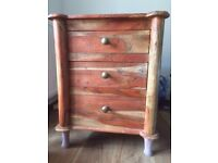 New mango reclaimed wood nightstand for sale