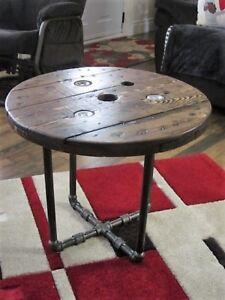 Magnifique Transformation Table de Style Industriel Antique