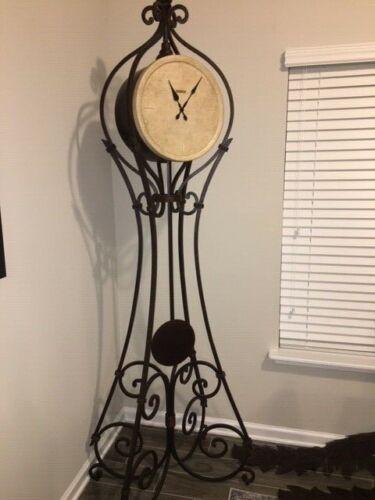 Howard Miller Vercelli Wrought Iron Floor Clock NWOB 615-004