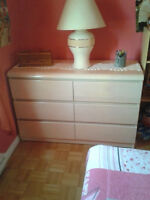 Lepine / Morigeau BLEACHED OAK WOOD DRESSER /STORAGE FOR DORMS