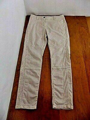 Skinny Railroad Stripe ( Chico's Railroad Stripe Jeans Sz 1.5 / 10 Tapered Skinny Leg)