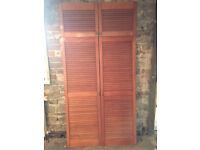 Set of 4 Louvred Wardrobe Doors