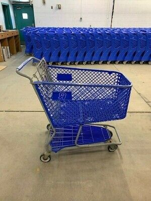 Toys R Us Blue Metal Plastic Retail Grocery Shopping Cart Very Rare