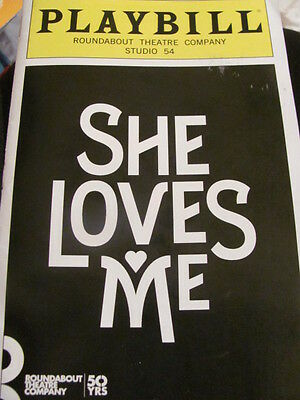 SHE LOVES ME Playbill Broadway Musical Laura Benanti Zachary Levi New York