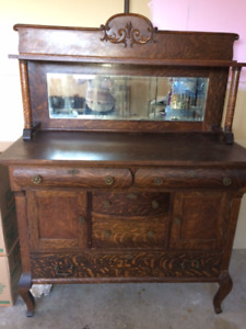 Antique 1930's sideboard with mirror