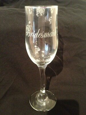 Floral Wedding Champagne Glass Flutes Mother of Bride Groom Bridesmaid Personal](Bridesmaid Champagne Flutes)