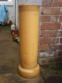 """Period CHIMNEY POT Reclaimed Glazed For garden 27"""" 68 cm high"""